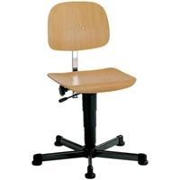 BIMOS Arbeitsdrehstuhl mit Holzsitz