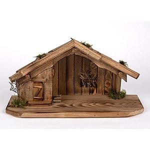 Holz und Gartentrends Weihnachtskrippe Krippe Krippenstall Weihnachten Weihnachtskrippen Tischkrippen Krippenfiguren (Weihnachtskrippe W08)