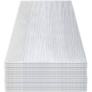 wolketon 14x Polycarbonat Hohlkammerstegplatten (60.5 x 121cm) 4mm | 10,25 m2 Doppelstegplatte für Gewächshaus, Garten Treibhaus Ersatzplatten