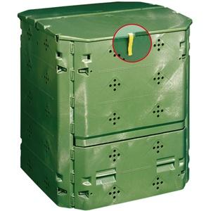 Juwel Ganzjahres-Komposter BIO 400 (Nutzinhalt 400 l, für Garten- / Küchenabfälle, Gartenkomposter mit Befüllklappe mit Windsicherung, UV- /witterungsbeständig, Behälter aus Recyclingkunststoff) 20161
