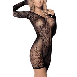 Langärmliges Dessous Kleid