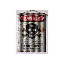 HTI-Line Metallschild Blechschild Danger, Blechschild bunt