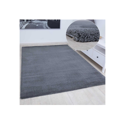 Teppich Ein extra flauschiger und moderner Hochflor Teppich in der Farben Grau für ein neues Wohlgefühl in der Wohnung, Vimoda 120 cm x 170 cm