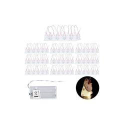relaxdays LED-Lichterkette 10 x Einhorn Lichterkette