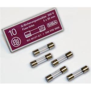 SIBA Finsikring  Miniatyrsikringer 5x20mm  glassør  3 15A. - (10 stk.)