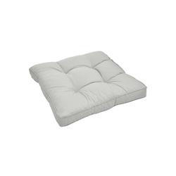 Beautissu Sitzkissen Xluna, Loungekissen Sitz 50x50x10cm grau 50 cm