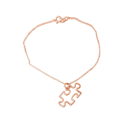 Gemshine Charm-Armband Puzzle, Made in Spain rosa