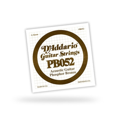 DAddario PB052 Einzelsaite - 052 Acoustic / Western Gitarre
