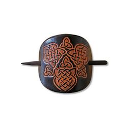 Adelia´s Haarspange Keltische Leder Haarspange