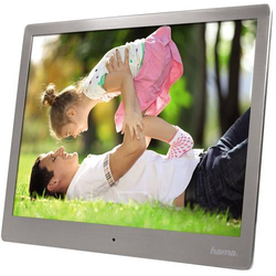 Hama 95276 Digitaler Bilderrahmen 25.4cm 10 Zoll 1024 x 768 Pixel 4GB Silber