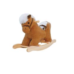BIECO Schaukelpferd Bieco Plüsch Schaukeltier Pferd 60 cm Kinder Schaukelstuhl mit Sicherheitsgurt Baby Schaukel Schaukel Kleinkind Schaukeltier Baby Zimmer Baby Schaukelwippe ab 9 Monate Schaukelpferd Holz