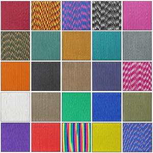 aufodara Paracord 49ft Schnüre Nylon Seil Survival kit Schnur 4mm 7 Kern Mehrzweck-Seil für Outdoor Armband Handarbeit Schlüsselanhänger Anhänger Haustier Halsband Hundeleine (rosa)