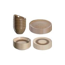 LEONARDO Geschirr-Set MATERA Geschirr Tafelservice beige 24-teilig (24-tlg), Keramik
