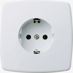 GAO 0301 Unterputz-Steckdose Creme-Weiß