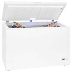 4*-Gefriertruhe 301 Liter LED-Licht Temperaturregelung freistehend weiß Rollen