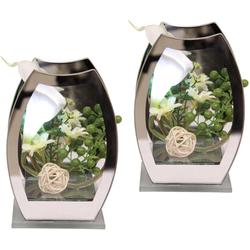 Kunstpflanze LED-Calla Calla, DELAVITA, Höhe 15 cm