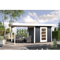 weka Designhaus 172 B 5,30 x 3,00 m anthrazit inkl. Anbau