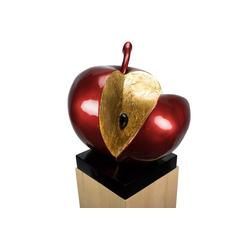 KUNSTLOFT Dekofigur Evas Apfel, handgefertigte Figur aus Kunststein