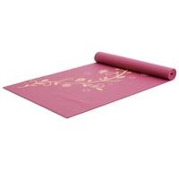 Yogistar Yogamatte Indian Flower bordeaux goldgelb