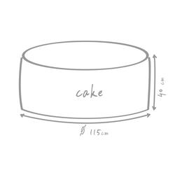 OUTBAG Sitzsack Cake Plus rot