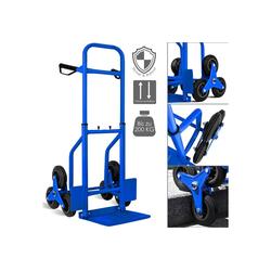 MASKO Sackkarre, Treppenkarre Sackkarre 200kg Transportkarre Treppensteiger Stapelkarre blau