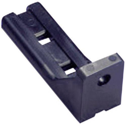TRU Components TC-LCHR60BK203 Kabelhalter schraubbar 1593071 Schwarz