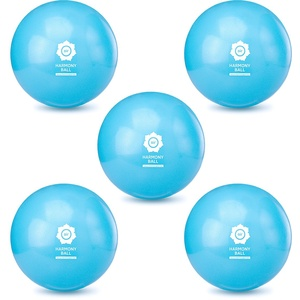 HARMONY BALL 5er Set air Pilatesball & Gymnastikball ohne Phthalate | aquablau (Aquablau, 28 cm)