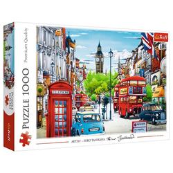 Trefl Puzzle Trefl Die Straßen von London 1000 Teile Puzzle, 1000 Puzzleteile