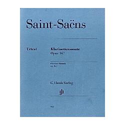 Klarinettensonate  Klarinette und Klavier  Klavierpartitur u. Klarinnettenstimme. Camille - Klarinettensonate op. 167 Saint-Saëns  - Buch