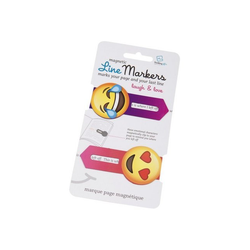 Magnetic Line Markers Laugh & Love - Magnetische Lesezeichen