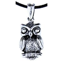 Kiss of Leather Kettenanhänger Eulen Anhänger 925 Sterling Silber Eule Uhu Owl Flügel