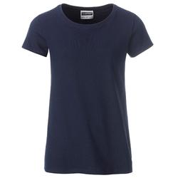 T-Shirt für Mädchen | James & Nicholson navy 146/152 (XL)
