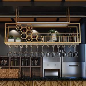 Decke Weinregal Metall Stemware Glasregal Küchenschrank Lagerung Organizer Upside Down Gläser Weinflasche Dekoration Regal - 100cm