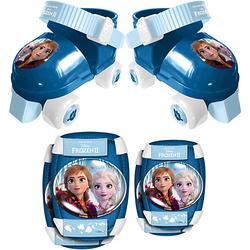 Rollschuhe Frozen Die Eiskönigin, inkl. Protektoren blau