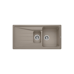 Blanco Sona 6 S Silgranit Puradur Ii 1.5 Bowl Reversible Drainer Composite Beige Kitchen Sink