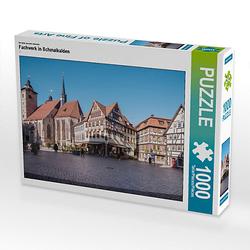 Fachwerk in Schmalkalden Lege-Größe 64 x 48 cm Foto-Puzzle Bild von Steffen Gierok ; Magik Artist Design Puzzle
