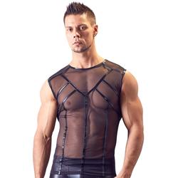 Shirt aus transparentem Powernet