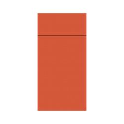 DUNI Duniletto-Slim Bestecktasche, Serviettentasche aus hochertigem Material, Maße: 40 x 33 cm, 1 Karton = 4 x 65 Stück, mandarin