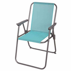 Siena Garden Piccolo Camping Stuhl Piccolo 53x48,5x80cm Hellblau Blau|Dunkelgrau