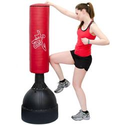 160 cm Standboxsack Box Punching Bag Standfuß PU Boxsack Stehend Boxständer Rot