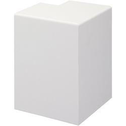 Bodenmeister Aussenecke Rohrabdeckleiste Weiß, H: 10 cm, Set