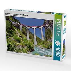 Durch die Alpen mit dem Glacier Express Lege-Größe 64 x 48 cm Foto-Puzzle Puzzle