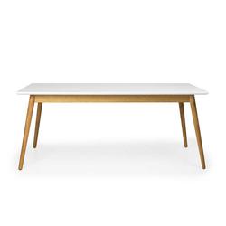 Esstisch in Weiß und Eiche skandinavischen Design