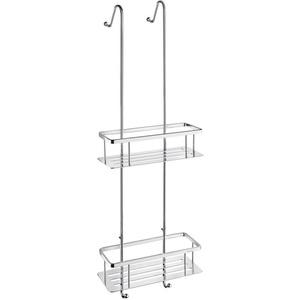 Smedbo Sideline Duschkorb doppelt - DK3041 | Chrom poliert | zum Einhängen | 250 x 103 mm | Höhe 70 mm | Original Smedbo Qualität | Lag. 1702109