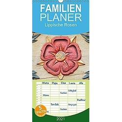 Lippische Rosen - Familienplaner hoch (Wandkalender 2021 , 21 cm x 45 cm, hoch)