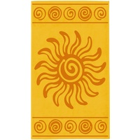 Delindo Lifestyle Tropical Sonne Strandtuch 100 x 180 cm gelb