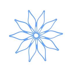 Kochblume Topfuntersetzer Vario, Hitzebeständig bis 230° blau