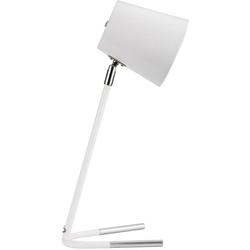 Pauleen Tischleuchte True Ally, Weiß/Silber max. 20W E14 Metall
