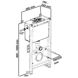 CORNAT Vorwandelement WC 400/800, Nassbauelement