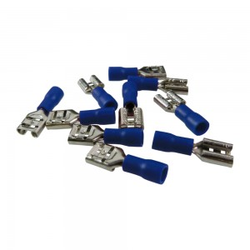 10Stk Flachstecker Flachsteckhülsen Kabelschuhe AS4 6,3 x 8 Blau 1,5-2,5mm²